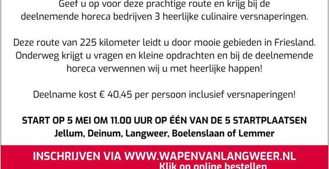 Culinaire Vrijheidsrally door Fryslân op 5 mei – GEANNULEERD!