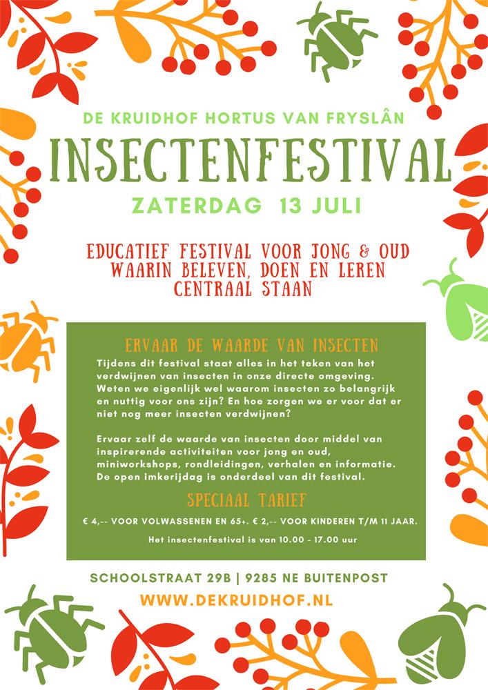 Insectenfestival bij De Kruidhof hortus van Fryslân