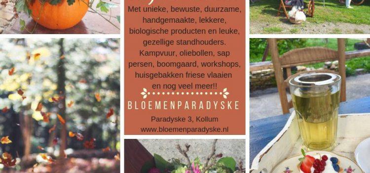 Najaarsmarkt Bloemenparadyske 2018.