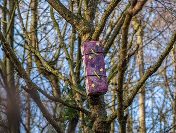 Pinhole camera versiert door kinderen Buitenpost-Kollum