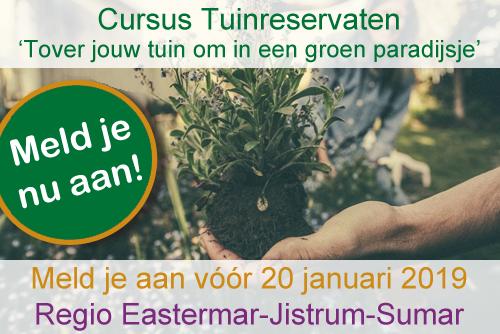 Cursus Tuinreservaten aanmelden